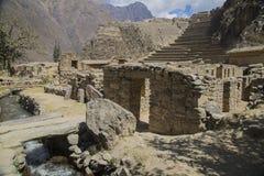 Fortaleza Ollantaytambo del inca Imagen de archivo libre de regalías
