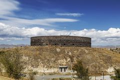 Fortaleza ou Sev-BERD preta em Gyumri Foi construído no meio do século XIX após o fim da guerra Russo-turca de 18 imagens de stock royalty free