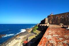 Fortaleza pelo mar Foto de Stock Royalty Free