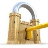 Fortaleza poderosa como candado Imagen de archivo libre de regalías