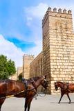 Fortaleza real Sevilla Andalusia do Alcazar de Sevilha foto de stock royalty free