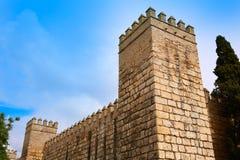 Fortaleza real Sevilla Andalusia do Alcazar de Sevilha fotos de stock royalty free