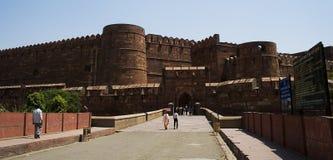 Fortaleza roja de Mughal de Agra Fotos de archivo libres de regalías