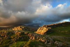 Fortaleza romana de Hardknott, Cumbrian Imagenes de archivo
