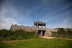 Fortaleza romana de Lunt imagen de archivo libre de regalías
