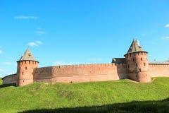 Fortaleza rusa antigua en un alto eje Fotografía de archivo libre de regalías