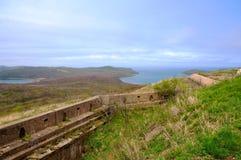 Fortaleza rusa de Caponiers en la isla imagen de archivo libre de regalías