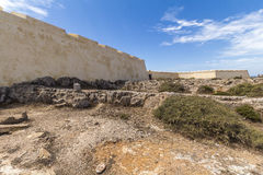 Fortaleza of Sagres at Europes most western point, Portugal Royalty Free Stock Photos