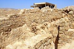Fortaleza sobre el mar muerto Fotografía de archivo libre de regalías