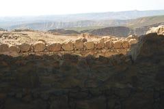 Fortaleza sobre el mar muerto Imagen de archivo