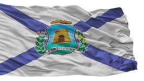 Fortaleza-Stadt-Flagge, Brasilien, lokalisiert auf weißem Hintergrund lizenzfreie abbildung