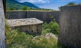 Fortaleza subterráneo de Thurmfort Gorazda Fotos de archivo