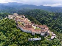 Fortaleza Transilvania de Rasnov Imagen de archivo