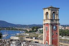 Fortaleza velha Corfu da torre de pulso de disparo Fotos de Stock