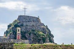 A fortaleza velha de Corfu Foto de Stock