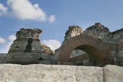 Fortaleza velha de Nessebar, Bulgária imagem de stock