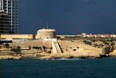 A fortaleza velha de Valletta Kalkara Sliema malta foto de stock