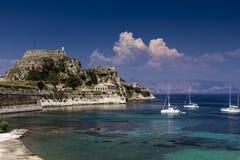 Fortaleza velha, Kerkira, Corfu Fotos de Stock