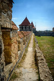 Fortaleza velha no rio Dniester no dobrador da cidade, Transnistria Cidade dentro das beiras de Moldova abaixo do unrecogni do co Fotos de Stock