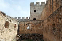Fortaleza veneciana de Frangokastello crete fotos de archivo
