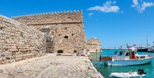 Fortaleza veneciana en el puerto de Heraklion Crete, Grecia fotografía de archivo