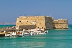 Fortaleza veneciana Koules en Heraklión Fotos de archivo libres de regalías
