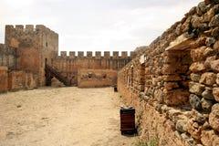 Fortaleza Venetian de Frangokastello crete Imagem de Stock Royalty Free