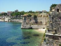 Fortaleza Venetian velha na cidade de Corfu, ilha de Kerkyra Fotos de Stock