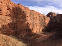 Fortaleza vermelha da rocha imagem de stock royalty free