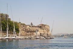 Fortaleza vieja, Aswan, Egipto. imagenes de archivo