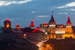 Fortaleza vieja Castillo de piedra en la ciudad de Kamenets-Podolsky Foto de archivo