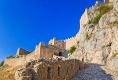 Fortaleza vieja en Corinth, Grecia Imagen de archivo libre de regalías