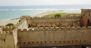Fortaleza vieja en el fondo del mar, almacen de metraje de vídeo