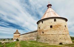 Fortaleza vieja en el lago Ladoga Fotografía de archivo libre de regalías