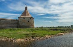 Fortaleza vieja en el lago Ladoga Foto de archivo