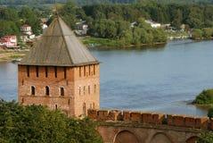Fortaleza vieja en Velikiy Novgorod Imagenes de archivo