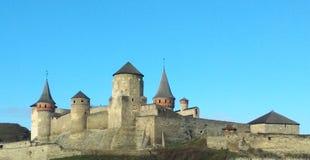 Fortaleza vieja, Kamenets-Podolsky, Ucrania Imagen de archivo libre de regalías
