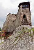 Fortaleza Visegrad do palácio da entrada, Hungria Fotos de Stock