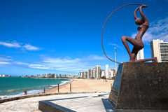 Fortaleza waterfront. Beach of Fortaleza in ceara state brazil Royalty Free Stock Image
