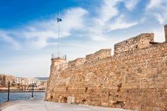 Fortaleza y puerto de Chania Foto de archivo