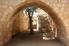 Fortaleza Yehiam Imagens de Stock Royalty Free