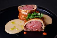 Fortalezca Wellington, filete clásico, restaurante de la carne imagenes de archivo