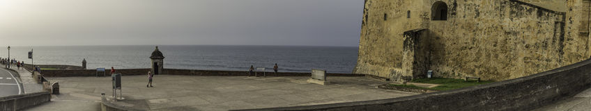 FortCasle St Cristobal Panorama Fotografering för Bildbyråer