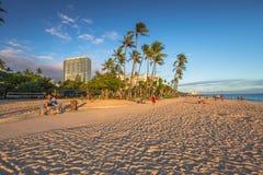 FortDeRussy strand Waikiki Arkivfoton