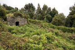 Forte abandonado de Lord John Hay em um dia nebuloso Fotos de Stock