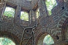 Forte abandonado velho em Goa, Índia Fotografia de Stock Royalty Free