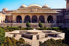 Forte ambarino, Jaipur, India Fotos de Stock Royalty Free