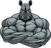 Forte atleta del rinoceronte Fotografia Stock