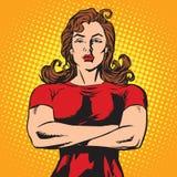 Forte atleta femminile della guardia del corpo illustrazione di stock