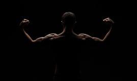 Forte atletico equipaggia indietro immagine stock libera da diritti